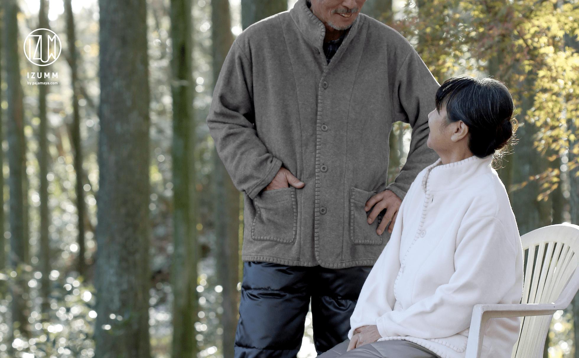 ... レディース フリースルームジャケットスタンドカラー【日本製】(上着のみの販売 ...